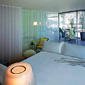 Sanderson Hotel Bedroom. Design Phillipe Starck